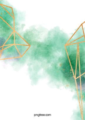 पानी के रंग का प्रतिपादन सोने की सीमा रेखा पर एक हरे रंग की पृष्ठभूमि , सूमी, पानी के रंग का, प्रतिपादन पृष्ठभूमि छवि