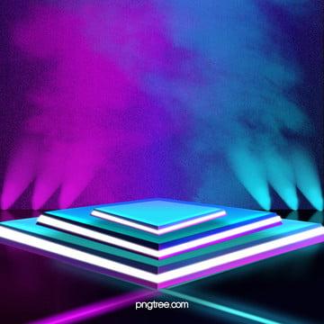 fumo azul roxo moda cool 3d arena , O Efeito De Luz, A Geometria, Spotlight Imagem de fundo