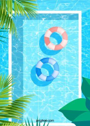 blue cool summer fresh water wave poster background , Summer, Summertime, Tree Background image