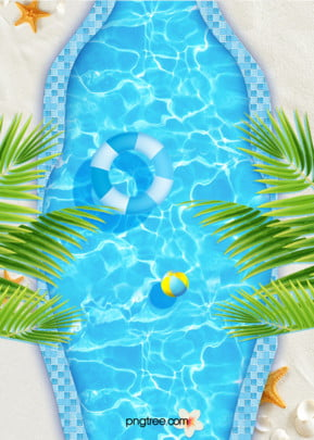 blue cool summer pool party with watermark blue background , Summer, Summertime, Tree Background image