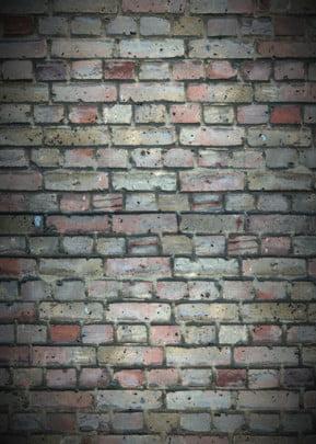 벽돌 벽 평포 스티커 효과 패턴 배경 , 도안, 벽면, 평방 배경 이미지