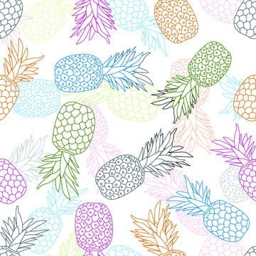 रंगीन अनानास फल निर्बाध पैटर्न , सार, Aloha, कला पृष्ठभूमि छवि