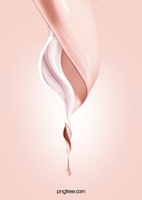 粉色美妝粉底液混合背景 , 絲滑, 化妝品, 液體 背景圖片