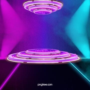 紫のクールでスタイリッシュな立体夢の舞台 , 3 D, 光の効, 灯をともす 背景画像