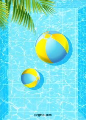 गर्मी में पूल पार्टी waterlines नीले रंग की पृष्ठभूमि , गर्मियों में, गर्मियों में, पेड़ पृष्ठभूमि छवि