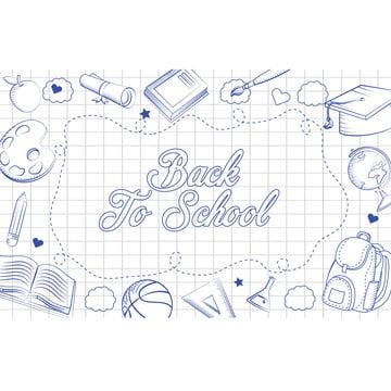 バックトゥスクール , バックパック, 教育する, 鉛筆 背景画像