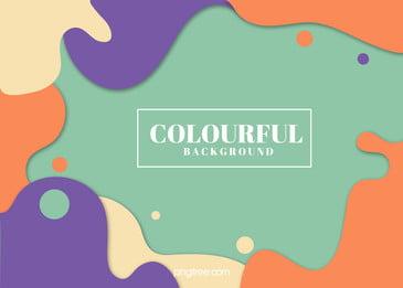 カラードットの抽象的な波状曲線の背景, 円点, カラー, 抽象的 背景画像