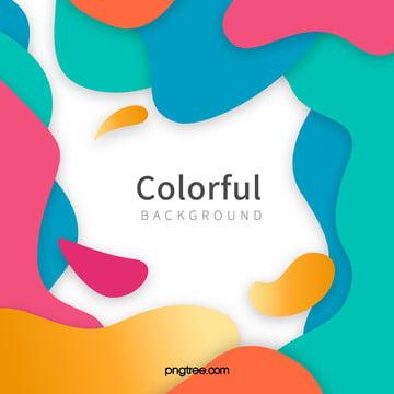 彩色波浪狀曲線背景 , 動感, 彩色, 撞色 背景圖片