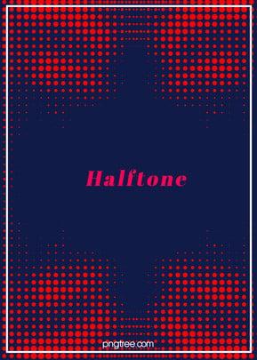 赤い枠線のハーフトーンスタイルのグラデーションと白い線の背景 , ハーフトーン, 大気, だんだん変わっていく 背景画像