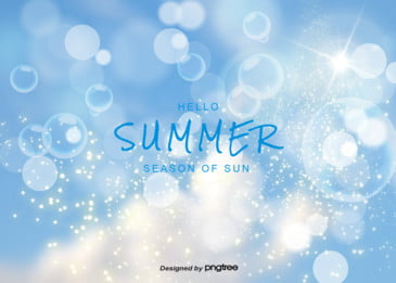 summer blurred halo blue sky elegant background, Luminous Effect, Summertime, Blurred Halo Background image