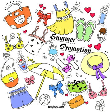 summer promotions for daily necessities graffiti , Promotion, Summer, Hand Painted Background image