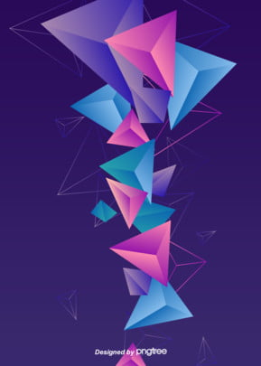 The Geometric Background Of Stereo Gradual Style In Perspective Space, Triangle, Geometric Form, Deep Background, Background image
