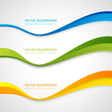 vector abstract background color wavy design  banner or flyer de , Banner, Technical, Green Background image