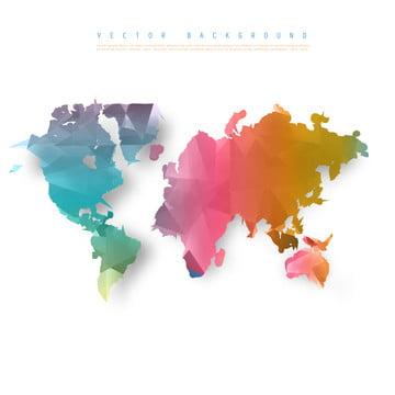 vektor abstrak telekomunikasi bumi dunia peta ba , Abstrak, Afrika, Asia imej latar belakang