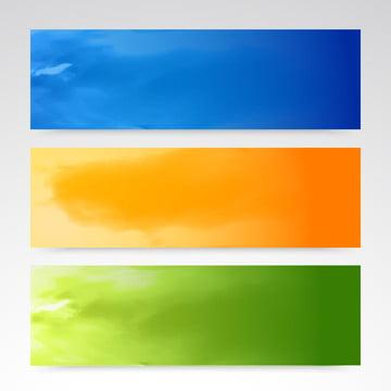 berwarna biru kuning g tajuk vektor set mendatar banner , Abstrak, Seni, Latar Belakang imej latar belakang