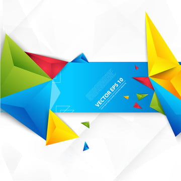 矢量白色背景和彩色幾何抽像三角形 , 3d, 抽象, 藝術 背景圖片