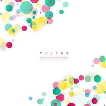 vector white background with a design of blue pink green and y , Pattern, Background, Circle Background image
