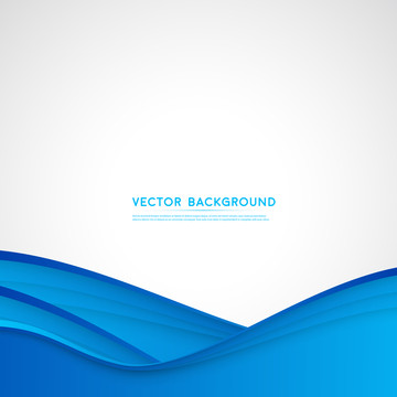 vague bleue sur fond blanc avec résumé en vecteur de conception et de copie , Résumé, Publicité, Contexte Image d'arrière-plan