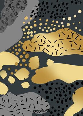 सोने की पत्ती काले सोने सार पृष्ठभूमि, स्पॉट, ब्रश भावना, बनावट पृष्ठभूमि छवि