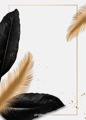 luxury black palm golden feather border wedding background , Wedding, Feather, Frame Background image