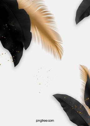 simple black palm golden feather wedding background , Wedding, Wedding Background, Feather Background image