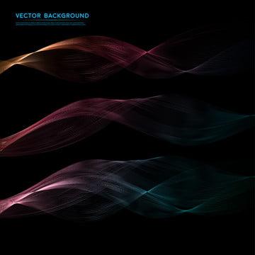 色の煙や波状デザインとベクトル抽象的な黒の背景 , 抄録, 抽象化, 背景 背景画像