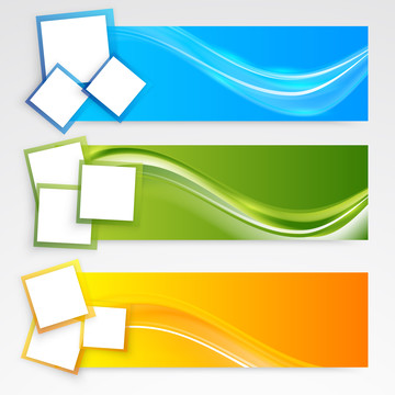 vector abstract blue green yellow background with color wavy des , Banner, Technical, Square Background image