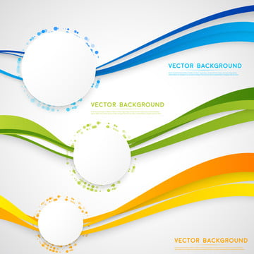vector white background with abstract color blue green yellow wa , Banner, Technical, Circle Background image