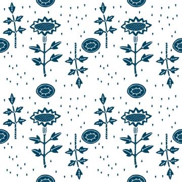 藍色花無縫圖案 , 矢量, 無縫模式, 花卉圖案 背景圖片