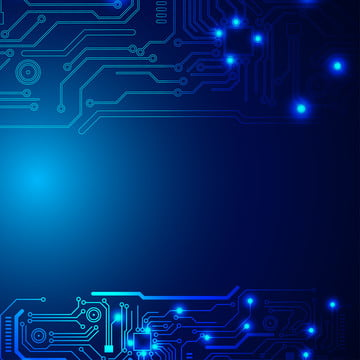 futuristic circuit board illustration high computer technology dark blue color background , Background, Tech, Blue Background image