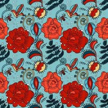 हेलोवीन निर्बाध पुष्प पैटर्न में कामचोर शैली , शरद ऋतु, बर्नेट, कार्ड पृष्ठभूमि छवि