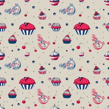 4 जुलाई cupcakes निर्बाध पैटर्न , चार, जुलाई के 4, अमेरिका पृष्ठभूमि छवि