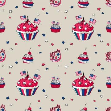 7月4日蛋糕無縫模式 , 7月4日, 卡通, 美國 背景圖片