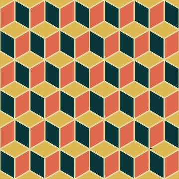 विंटेज 3 डी घन निर्बाध पैटर्न पृष्ठभूमि दीवार की सजावट के लिए उद्देश्य , 3 डी, सार, कला पृष्ठभूमि छवि