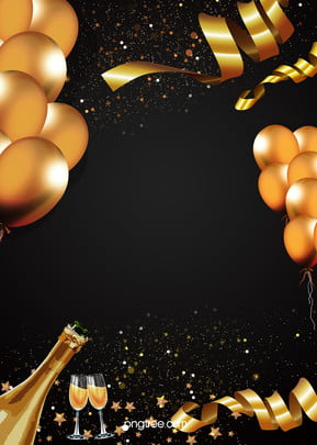 fundo golden balloon champagne party , Extravagância, Fitas, O Balão Imagem de fundo