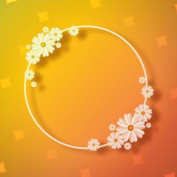 ラグジュアリーサークル形花フレームの背景 , 背景, 旗, カード 背景画像