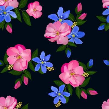 盛開的花無縫圖案粉紅色玫瑰和藍色肝片花束適合表面設計 織物 紡織品 婚禮裝潢 , 摘要, 藝術, 背景 背景圖片