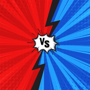 comic fighting cartoon background blue vs red  vector illustration , Battle, Blue, Bomb Background image