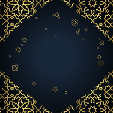 geometric background frames  themed in islam and gold in arabic  with a number of demage side looks , Gold, Geometric, Frame Background image