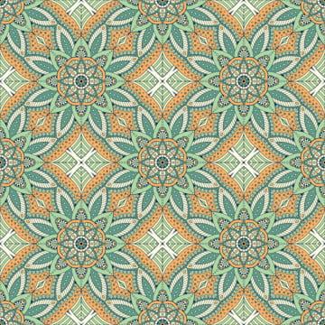 ماندالا العرقية وتصميم زهرة نمط سلس , خلاصة, أفريقيا, العربية صور الخلفية