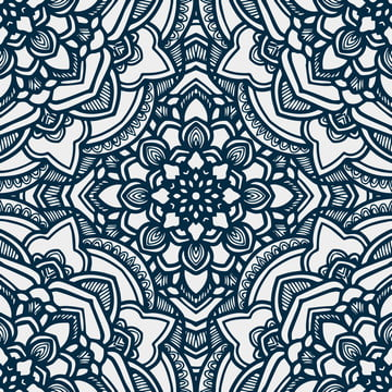 mandala seamless pattern with rounded floral ethnic mandala ornament  tribal pattern background , Abstract, African, Arabic Background image