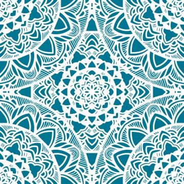 داتورا صفراوية نمط سلس مع الزهور المستديرة العرقية ماندالا ديكور نمط القبلية الخلفية , خلاصة, أفريقيا, العربية صور الخلفية