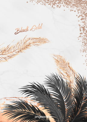 Marble pattern background of black palm gold feathers , Sequins, Grace, Marble Background image