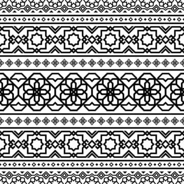Ấn Độ mô hình hồi giáo theo màu đen và trắng , Abstract, Nesillas, Ả Rập Ảnh nền