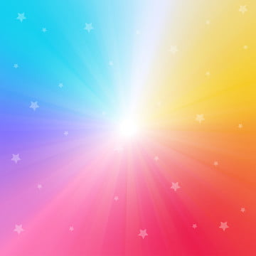 rainbow gradient background with bright rays and sparkling stars vector illustration , Celebration, Shine, Ray Background image