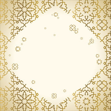 rectangular or polygon background frame whose sides are decorated with geometric patterns  themed in islam and gold in arabic  with a number of demage side looks , Gold, Geometric, Frame Background image