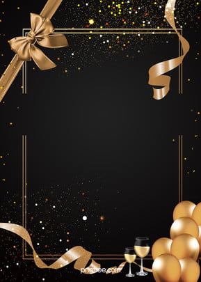 Background of Champagne Balloon Border Party , Extravagance, Coloured Ribbon, Balloon Background image