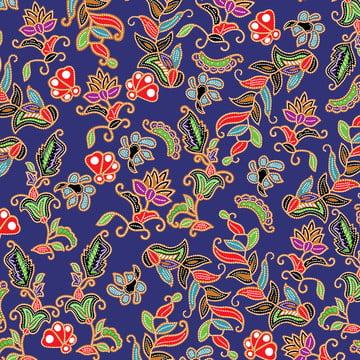 singapore blue batik pattern peranakan style , Nền, Muôn Màu Muôn Vẻ., Color Ảnh nền