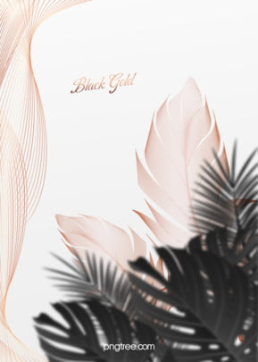 不規則線條邊框黑棕櫚金羽毛婚禮背景 , 質感, 棕櫚, 羽毛 背景圖片