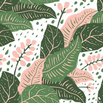 seamless pattern with tropical flowers and leaves , Seamless, Pattern, Tropical Background image
